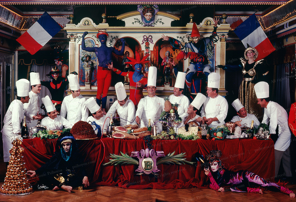 Twelve of the best chefs in France assembled for a fantasy banquet at the eatery of culinary genius Paul Bocuse.  Most of what we think is taste is smell -  hold your nose and chew an apple you cannot tell a Potatoe from an Apple.