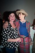 LAURA FABER; LADY HENRIETTA ROUS, Craigie Aitchison - private view<br /> Memorial retrospective, Timothy Taylor Gallery, 15 Carlos Place, London 28 March 2012.