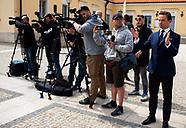 Krzysztof Bosak na konferencji prasowej w Białymstoku