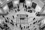 People participate in memorial activities for the late civil rights leader and Democratic Representative from Georgia John Lewis, at the Georgia State Capitol in Atlanta, Georgia USA, 29 July 2020. Lewis died at age 80 on 17 July 2020 after being diagnosed with pancreatic cancer in December 2019. John Lewis was the youngest leader in the March on Washington in 1963.