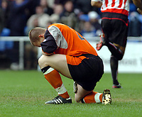 Picture: Henry Browne.<br />Date: 20/03/2004.<br />Reading v Sunderland Nationwide First Division.<br /><br />Reading Keeper James Ashdown looks annoyed as his slip allowed Sunderland's second goal.
