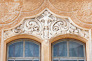 Art Nouveau detail, Riga, Latvia. Riga has one of the greatest concentrations of Art Nouveau architecture of any city in Europe. © Rudolf Abraham