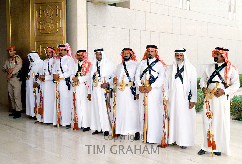 Ceremonial palace guard at King's Palace in Saudi Arabia