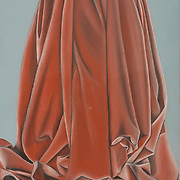 """Title: Folds Within Fabric<br /> Artist: Ariana Stern-Luna<br /> Date: 2012<br /> Medium: Conté crayon<br /> Dimensions: 23 x 29""""<br /> Status: Available<br /> Location: HLC Storage"""