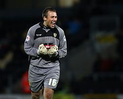 Burton Albion's Dean Lyness celebrates the second goal-Photo mandatory by-line: Matt Bunn/JMP - Tel: Mobile: 07966 386802 10/11/2013 - SPORT - FOOTBALL - Pirelli Stadium - Burton upon Trent - Burton Albion v Hereford United - FA Cup