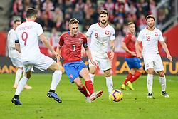 November 15, 2018 - Gdansk, Poland, BOREK DOCKAL from Czech Republic (L) and MATEUSZ KLICH from Poland (R) during football friendly match between Poland - Czech Republic at the Stadion Energa in Gdansk, Poland