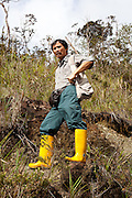Botanist Ansou Gunsalam at Mesilau Nature Resort, Kinabalu National Park, Sabah