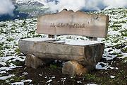 Snow in August on Männlichen Royal Walk, above Lauterbrunnen Valley, Switzerland, the Alps, Europe.