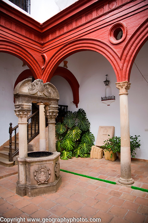 Historic courtyard in the municipal city museum Ronda, Spain