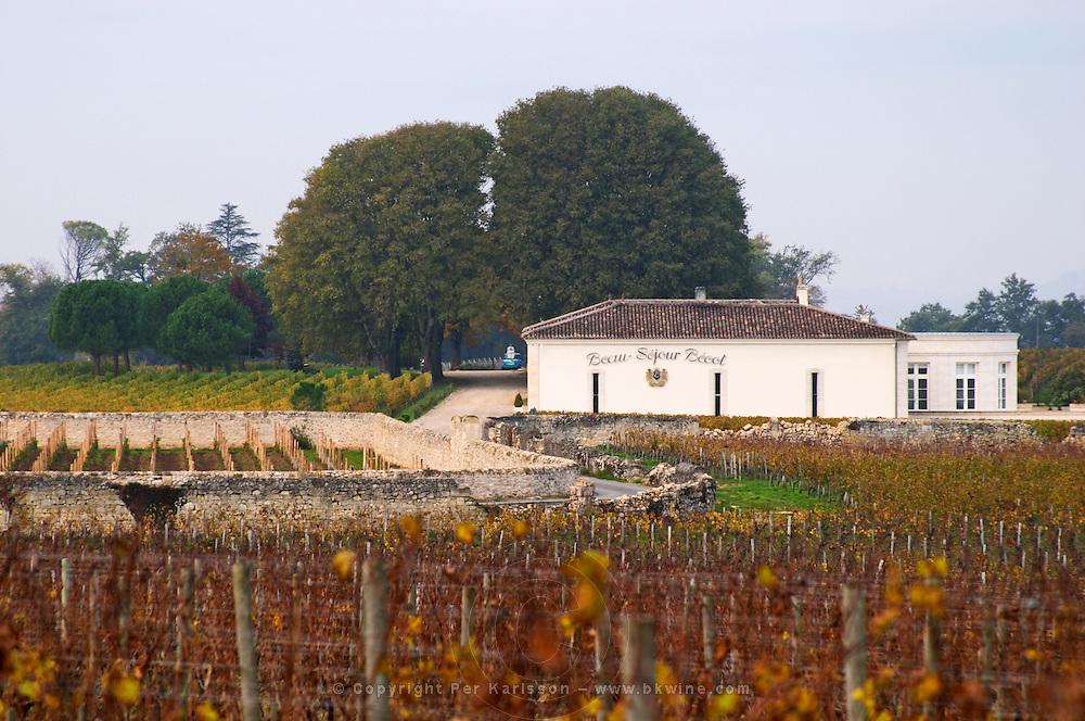 Vineyard and winery. Chateau Beau Sejour Becot. Saint Emilion, Bordeaux, France