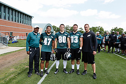 A Group Photo of the Tight Ends who attended the Philadelphia Eagles NFL football rookie camp at the teams practice facility on Saturday, May 17, 2014. (Photo by Brian Garfinkel)