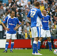 Photo: Paul Thomas.<br /> Preston North End v Birmingham City. Coca Cola Championship. 06/05/2007.<br /> <br /> Dejected captain Stephen Clemence (L) and his Birmingham team-mates after Preston score, which would deny them the winners of the Championship.