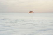 Mar 2, 2016 - Zhezkazgan, Kazakhstan - <br /> <br /> The Soyuz TMA-18M spacecraft is seen as it lands with Expedition 46 Commander Scott Kelly of NASA and Russian cosmonauts Mikhail Kornienko and Sergey Volkov of Roscosmos. Kelly and Kornienko completed an International Space Station record year-long mission to collect valuable data on the effect of long duration weightlessness on the human body that will be used to formulate a human mission to Mars. Volkov returned after spending six months on the station.<br />  ©Bill Ingalls/NASA/Exclusivepix Media