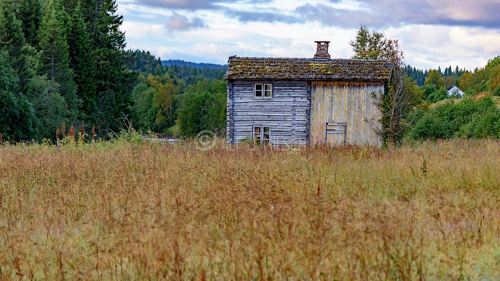 Old house at Gauldal, Tröndelag, Norway.