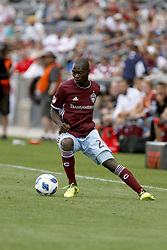 April 29, 2018 - Commerce City, Colorado - Colorado Rapids midfielder Michael Azira (22) handles the ball in the second half of action in the MLS soccer game between Orlando City SC and the Colorado Rapids at Dick's Sporting Goods Park in Commerce City, Colorado (Credit Image: © Carl Auer via ZUMA Wire)