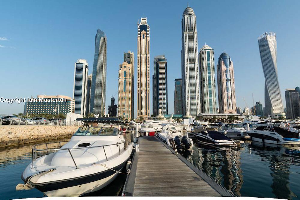 View of Skyline during Dubai International Boat Show 2014 United Arab Emirates
