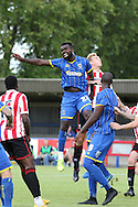 Kayleigh Osbourne in action during the Pre-Season Friendly match between AFC Wimbledon and Cheltenham Town at the Cherry Red Records Stadium, Kingston, England on 1 August 2015. Photo by Stuart Butcher.