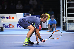 November 14, 2017 - London, United Kingdom - Henry Kontinen of Finland in action during the Doubles match against Jean-Julien Rojer of Netherland during Nitto ATP World Tour Finals at the O2 Arena, London on November 14, 2017. (Credit Image: © Alberto Pezzali/NurPhoto via ZUMA Press)