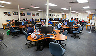 Students using the computer lab at the FAMU-FSU College of Engineering in Tallahassee, Florida.