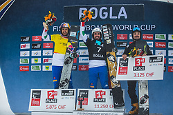WILD Vic (RUS) and FISCHNALLER Roland and  FELICETTI Mirko (ITA) during FIS alpine snowboard world cup 2019/20 on 18th of January on Rogla Slovenia<br /> Photo by Matic Ritonja / Sportida