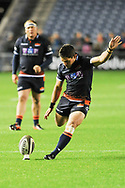 Simon Hickey takes penalty during the Guinness Pro 14 2018_19 match between Edinburgh Rugby and Toyota Cheetahs at BT Murrayfield Stadium, Edinburgh, Scotland on 5 October 2018.
