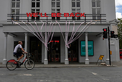 © Licensed to London News Pictures. 06/07/2020. London, UK. The Old Vic theatre in London, which reacted positively on Twitter to the announcement of financial support for theatres. The government has announced a £1.57bn bailout for the UK arts sector. Photo credit: Rob Pinney/LNP