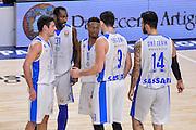 DESCRIZIONE : Eurolega Euroleague 2015/16 Group D Dinamo Banco di Sardegna Sassari - Maccabi Fox Tel Aviv<br /> GIOCATORE : Team Dinamo Banco di Sardegna Sassari<br /> CATEGORIA : Time Out Fair Play<br /> SQUADRA : Dinamo Banco di Sardegna Sassari<br /> EVENTO : Eurolega Euroleague 2015/2016<br /> GARA : Dinamo Banco di Sardegna Sassari - Maccabi Fox Tel Aviv<br /> DATA : 03/12/2015<br /> SPORT : Pallacanestro <br /> AUTORE : Agenzia Ciamillo-Castoria/L.Canu