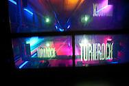 New York. Rockfeller center . elevator in the Rockfeller center. going to Top of the Rock terrace New York, Manhattan - United states   /   ascenseur du Rockfeller center menant a la terrasse de TOP OF THE ROCK,  Manhattan, New York - Etats unis