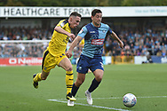 Oxford United midfielder Gavin Whyte (16) sprints forward with the ball  during the EFL Sky Bet League 1 match between Wycombe Wanderers and Oxford United at Adams Park, High Wycombe, England on 15 September 2018.