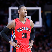 27 December 2014: Toronto Raptors forward Terrence Ross (31) rests during the Toronto Raptors 110-98 victory over the Los Angeles Clippers, at the Staples Center, Los Angeles, California, USA.