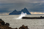 Skellig Michael, (right) and Little Skellig as seen from The Glen off the Kerry Coast in County Kerry Ireland. <br /> Picture by Don MacMonagle -macmonagle.com