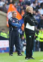 CIS Cup Final<br /> Celtic v Rangers<br /> Hampden Park<br /> Glasgow<br /> <br /> Celtic manager Gordon Strachan<br /> 15/03/2009 Credit Colorsport / Ian MacNicol