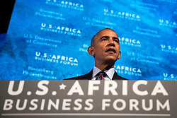 NEW YORK, NEW YORK - SEPTEMBER 21: U.S. President Barack Obama speaks at the U.S.-Africa Business Forum at the Plaza Hotel, September 21, 2016 in New York City. The forum is focused on trade and investment opportunities on the African continent for African heads of government and American business leaders. Photo by Drew Angerer/Pool/ABACAPRESS.COM