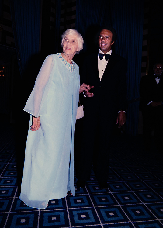 Lillian Carter - mother of President Jimmy Carter and US Ambassador to the United Nations  Andrew J. Young  at New York's Waldorf Astoria Hotel prior to an awards dinner honoring Ms. Carter for her volunteerism.