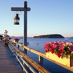 Bar Harbor, ME. Pier. Frenchman Bay.