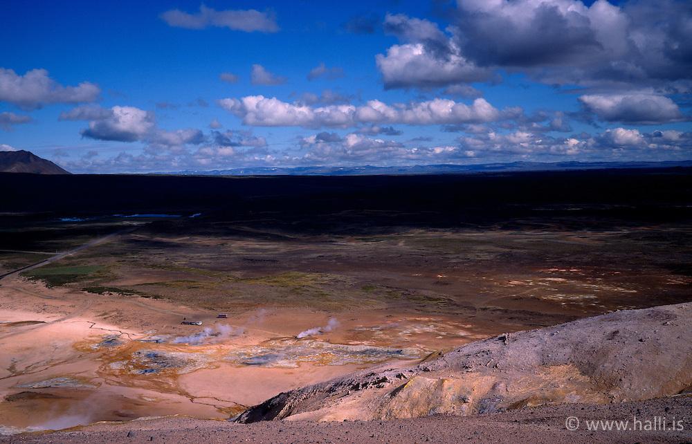 Jarðhitasvæðið við Námaskarð / The geothermal area in Namaskard, north of Iceland