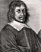 Tobias Andreae (1604-1676) German Calvinist. Professor of philosophy at Groningen University.   Engraving from From 'Icones Virorum' by Friedrich Roth-Scholtz (Nuremberg, 1725).