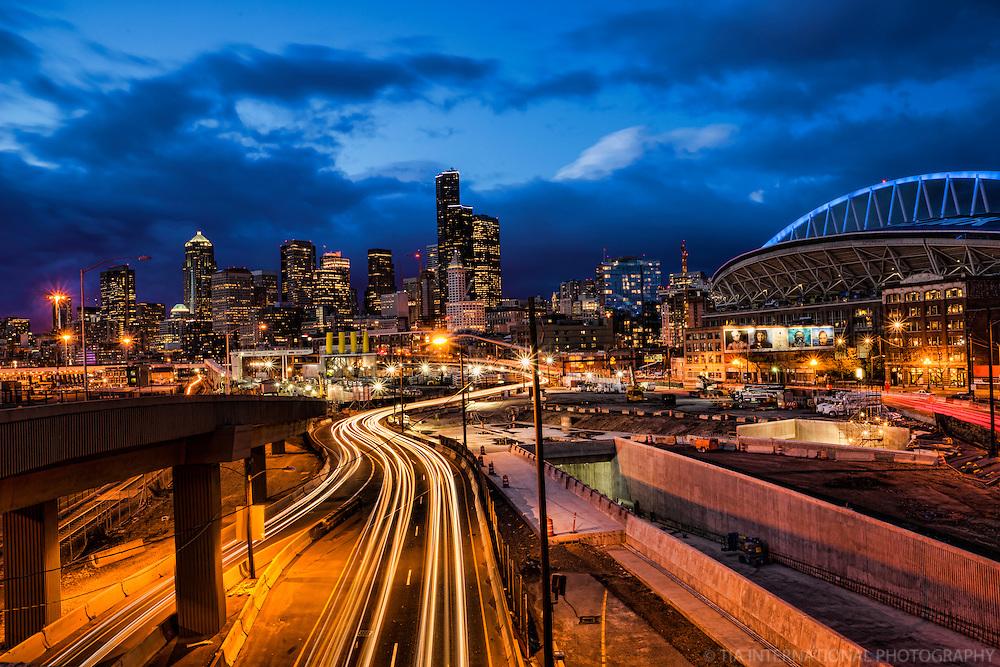 Alaskan Way Viaduct-Tunnel Construction, Seattle