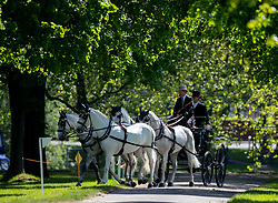 Carriage driving competitors during day two of the Royal Windsor Horse Show at Windsor Castle, Berkshire.