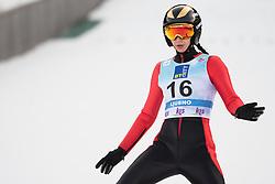 February 8, 2019 - Daniela Haralambie of Romania on first competition day of the FIS Ski Jumping World Cup Ladies Ljubno on February 8, 2019 in Ljubno, Slovenia. (Credit Image: © Rok Rakun/Pacific Press via ZUMA Wire)