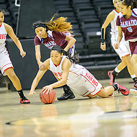 021015  Adron Gardner/Independent<br /> <br /> Page Sand Devil Brooke Lister (42) dives for a ball in Chinle Tuesday.