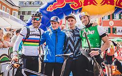 08.09.2018, Lienz, AUT, 31. Red Bull Dolomitenmann 2018, im Bild 3. Platz, Lakata Alban (AUT, Red Bull), Anton Palzer (GER, Red Bull), Rifesser Lukas (AUT, Red Bull), Hudetz Harald (AUT, Red Bull) // 3rd placed Lakata Alban (AUT, Red Bull), Anton Palzer (GER, Red Bull), Rifesser Lukas (AUT, Red Bull), Hudetz Harald (AUT, Red Bull) during the 31th Red Bull Dolomitenmann. Lienz, Austria on 2018/09/08, EXPA Pictures © 2018, PhotoCredit: EXPA/ JFK