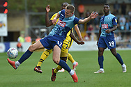 Wycombe Wanderers midfielder (on loan from Shrewsbury Town) Bryn Morris (17) on defensive duties during the EFL Sky Bet League 1 match between Wycombe Wanderers and Oxford United at Adams Park, High Wycombe, England on 15 September 2018.