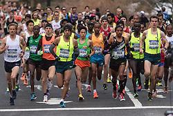 NYRR New York City Half Marathon road race: men's start