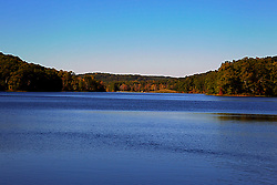 08 October 2013:   Lake Yellowwood in Yellowwood State Forest.<br /> <br /> Yellowwood State Forest was created on leased federal land in 1940.  It was later (1956) deeded to the state of Indiana.  More than 2000 vacant and eroded acres were planted with pine, black locust, black walnut, and red and white oak.  Yellowwood Lake is 133 acres and about 30 feet deep. This image was produced in part utilizing High Dynamic Range (HDR) processes. It should not be used editorially without being listed as an illustration or with a disclaimer. It may or may not be an accurate representation of the scene as originally photographed and the finished image is the creation of the photographer.
