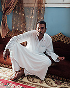 Abdel Monaim found an unusual object in the desert, south of El Alamein, when he was sixteen. It exploded and Abdel lost the fingers and thumb of his left hand above the first joint.