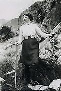 Freda Du Faur, Australian mountaineer who made a number of significant first ascents in Southern Alps New Zealand in 1910 - Photo GE Mannering / Hedgehog House archive