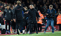 Football - 2016 / 2017 Premier League - Liverpool vs. Manchester United<br /> <br /> Liverpool's Jurgen Klopp shakes hands with Manchester United's Jose Mourinho after the match at Anfield.<br /> <br /> COLORSPORT