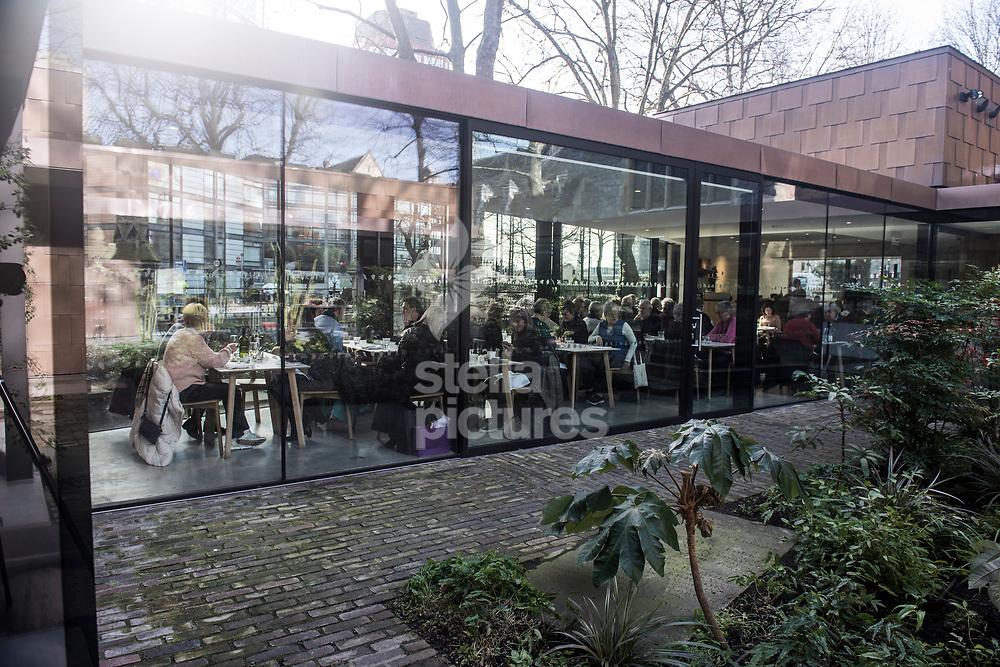 General view of Garden Museum Cafe, London.<br /> Picture by Daniel Hambury/@stellapicsltd 07813022858<br /> 16/02/2018