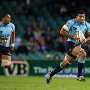 Sekope Kepu (left) and Wycliff Palu in action during the Super 14 match between the Waratahs and the Western Force at the Sydney Football Stadium, Sydney, Australia on April 18, 2009.  Photo Tim Clayton